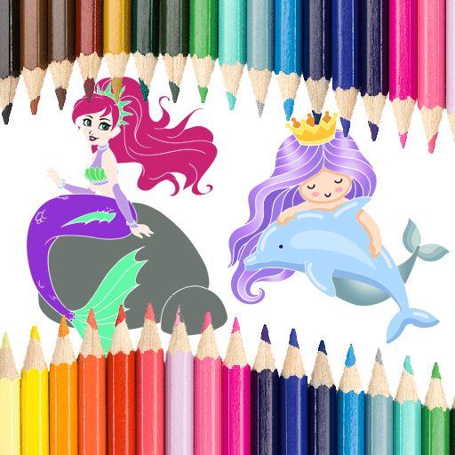 Deniz Kızı Boyama Oyunu